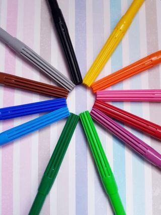 🆕️12 bright coloured textas