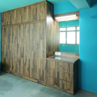 (S12) sliding wardrobe direct carpentry base in Singapore