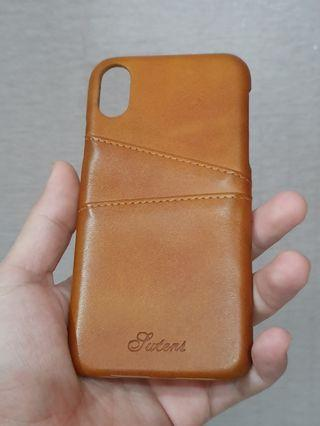 LEATHER CASE IPHONE X