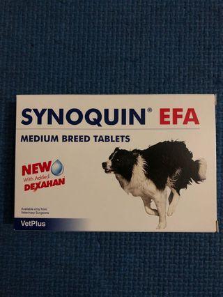 【現貨, 包郵】全新, 英國直送 Synoquin EFA 10-25kg Medium breed tablets / 狗關節保健 Supports joint / Vetplus (30粒) pet - 實物圖