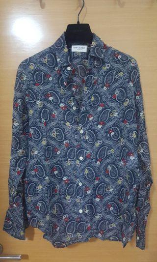 Saint Laurent paisley shirts