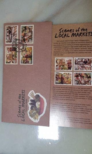 Singapore FDC Scenes of the local market