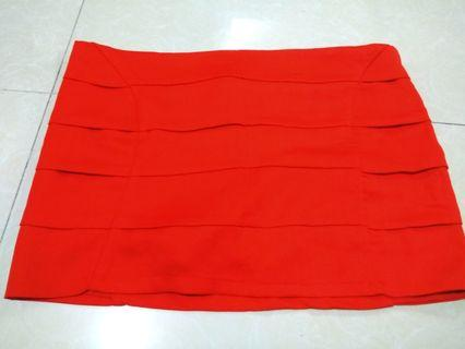 🚚 BNWT Red Sexy Mini Skirt Skort