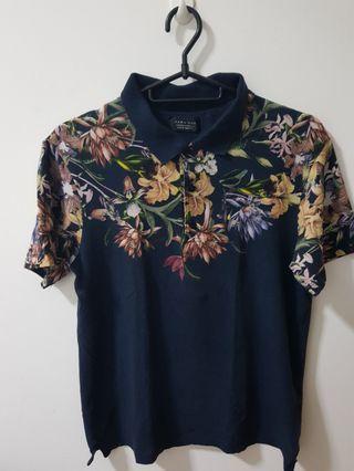 Zara Man Floral Polo Shirt