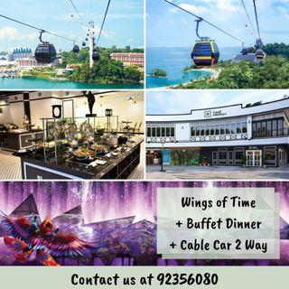 [COMBO] Wings of Time + Asian Dinner Buffet + Cable Car Sky Pass
