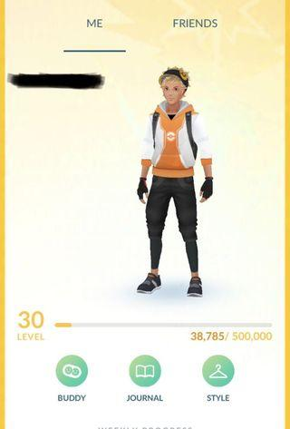 CLEAN Pokemon Go Level 30 Account  | 600k Stardust | Full Inventory | Full Egg Inventory |  CHEAPEST