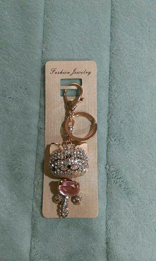 玻璃水晶鑽石鑰匙圈