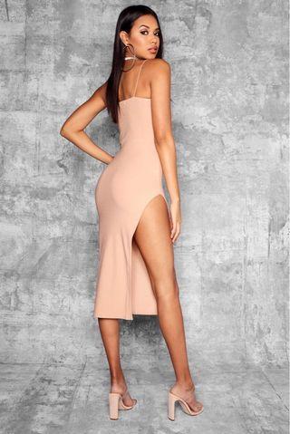 Nude Thigh High Dress