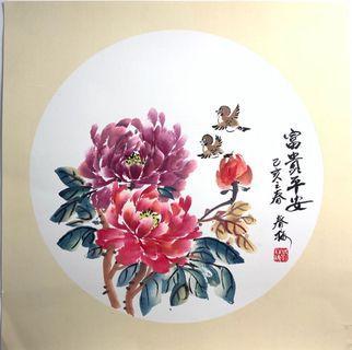 牡丹 水墨画
