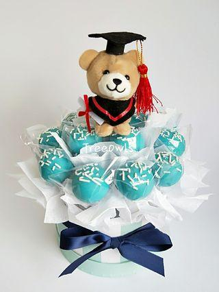 Graduation Bear Cake Pop Set 🎓 🐻