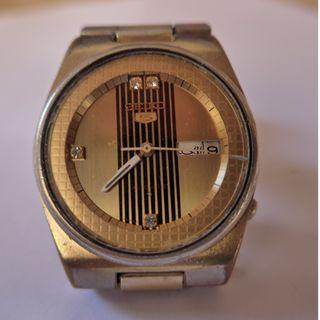 Seiko 5 Automatic Round Gold Dial Watch