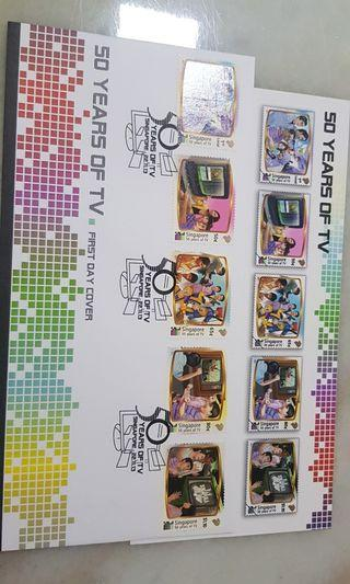Singapore FDC 50 years of TV