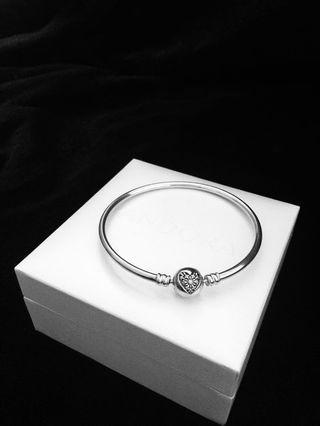 Pandora Heart of Winter Bangle Bracelet