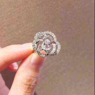 Chanel camellia ring #48