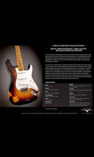 Fender custom shop 60th Anniversary heavy relic strat