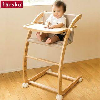 🚚 Baby High Chair (solid beech wood)