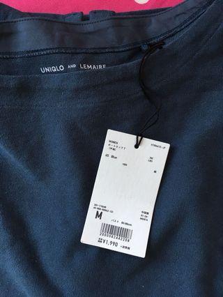 Uniqlo x Lemaire 藍色T-shirt