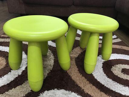 Ikea Mammut Children Green Stool