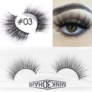 🚚 3D Mink Eyelashes Extensions Natural Handmade Fake Eyelashes #03