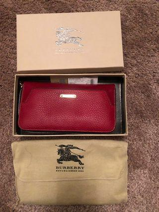 Burberry Wallet 長銀包(Military Red ,Zip-around)