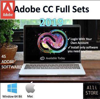 [46 Softwares] Adobe CC 2019 Lifetime Full Set