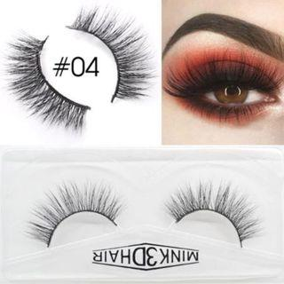 🚚 3D Mink Eyelashes Extensions Natural Handmade Fake Eyelashes #04