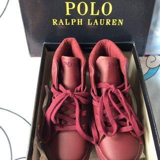 POLO RALPH LAUREN TRIPLE BURGUNDY EASTEN MID Kid's shoes