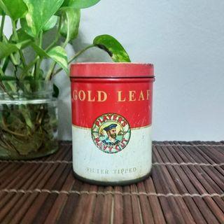 Vintage Gold Leaf Player's Navy Cut Cigarette Tin (Tin Rokok)