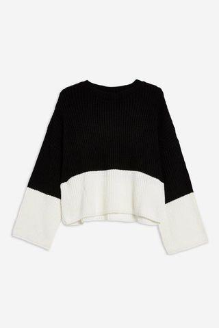 Topshop colourblock jumper