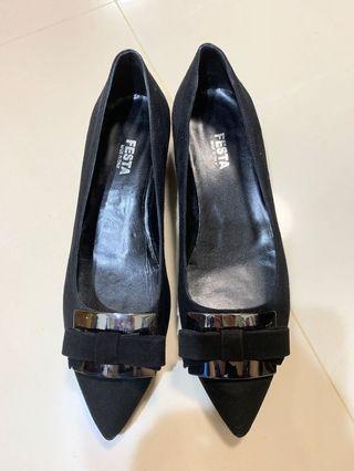 意大利進口真皮女鞋35.5黑