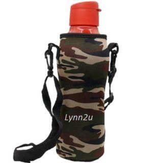 Tupperware Eco Bottle Flip Top (1) 1.0 L (Red) + Camouflage Pouch (1)