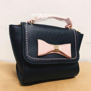 Handbag with a Ribbon (BLACK / LILAC / PINK)