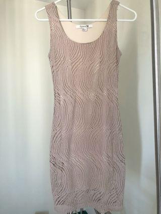 F21 Nude Bondage Dress