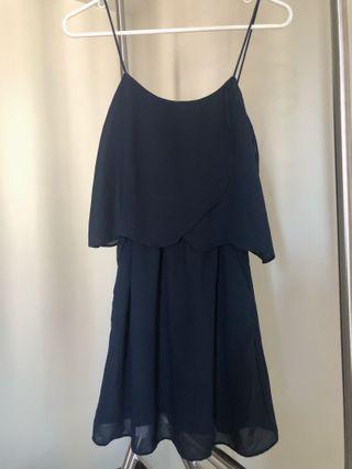 MNG Navy Blue Dress w/ pockets