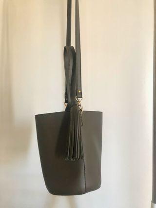 Olive Green Bucket Bag