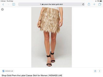 Prem The Label Caesar Skirt New with tags