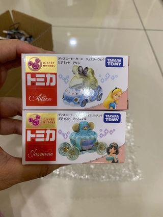 🚚 ❤️日本🇯🇵迪士尼公主珠寶多美車二台一組