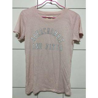 Abercrombie & Fitch 粉紅色短袖上衣