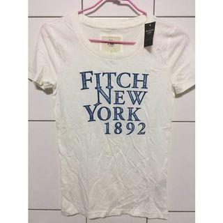 Abercrombie & Fitch 白色短袖上衣