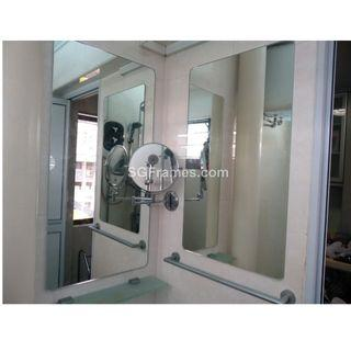 Frameless Mirror – Installation on Wall – Custom Size