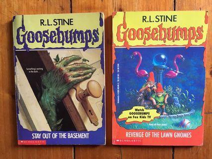 Goosebumps Books x2