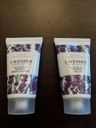 B/N Marks and Spencer Lavender Shower Cream & Hand + Body Lotion #EndgameYourExcess