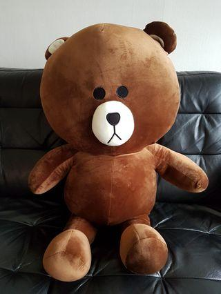 💝BN BIG Line Brown Bear from Green party