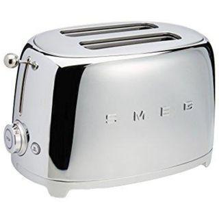 Smeg 50's Retro Style Aesthetic 2 Slice Toaster Chrome With 1 Year Local (Singapore) manufacturer warranty