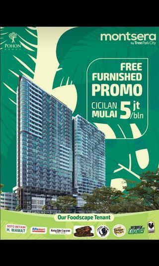 Di jual Apartmen Montsera by Treepark City Hub : wellydh 0813 1983 4598.