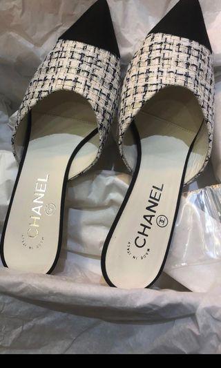 Chanel tweed shoe 新款(全新)