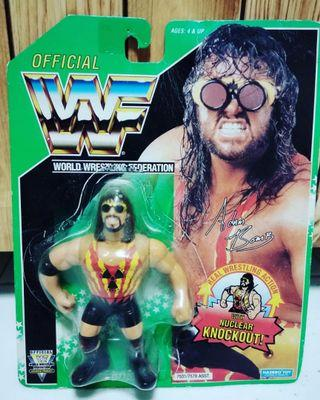 Hasbro WWF figures - Rare Green Series 11 Adam Bomb
