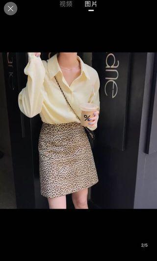 🚚 韓版豹紋短裙 a字裙 窄裙