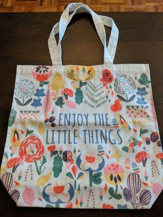 "🚚 B/N Paperchase ""Enjoy the Little Things"" Tote Bag #EndgameYourExcess"