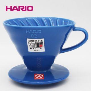 日本製造~有田燒 HARIO V60 02 (適用人份 1~4人份) 陶瓷濾杯 V60 Cone-shaped V Coffee Dripper Maker 咖啡濾杯